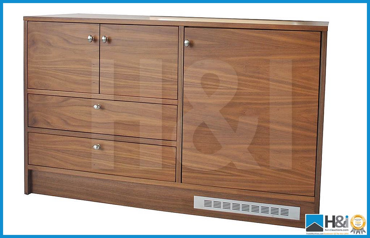Lot 9 - Stunning black walnut bedroom furniture set comprising: 2-door wardrobe - H 193cm x W 110cm