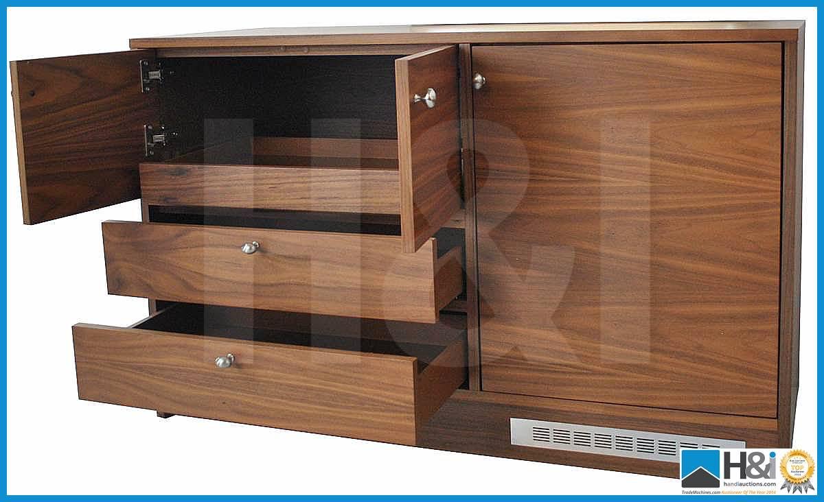 Lot 3 - Stunning black walnut bedroom furniture set comprising: 2-door wardrobe - H 193cm x W 110cm