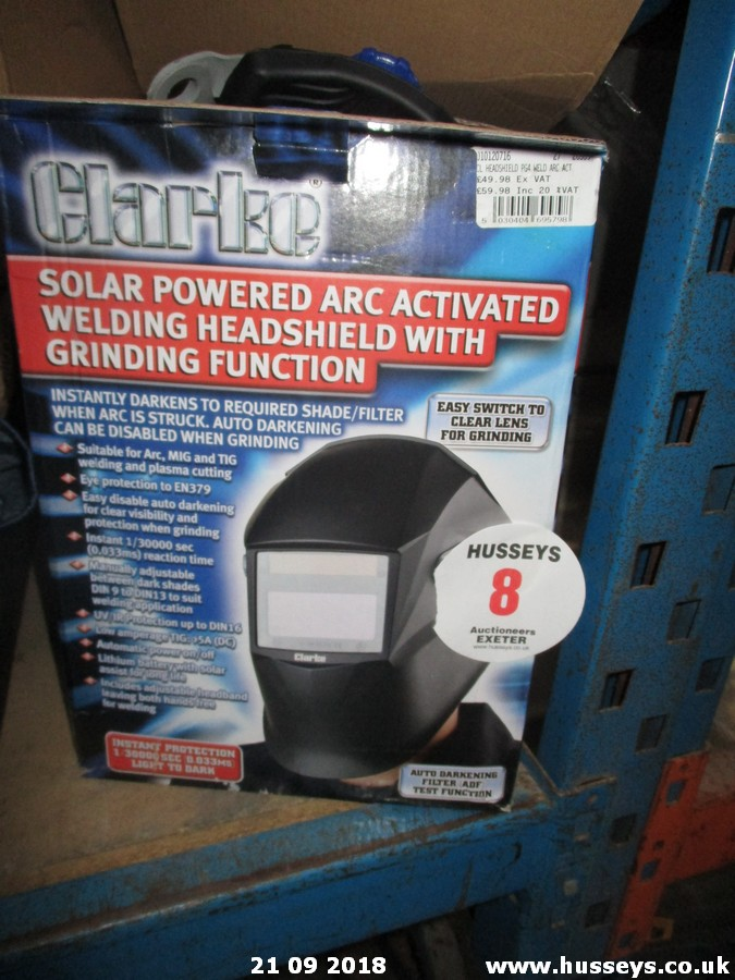 Lot 8 - WELDING HELMET