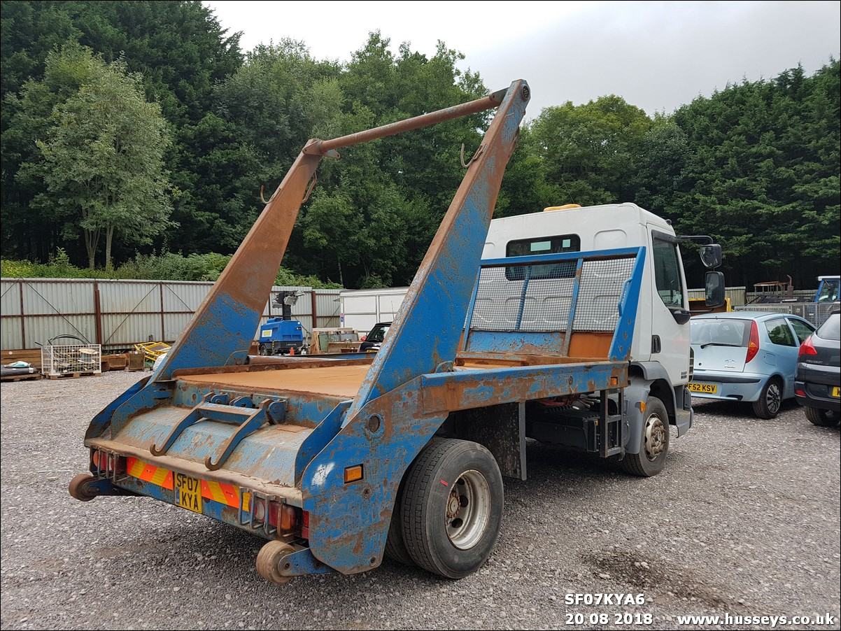 Lot 1501 - 2007 DAF LF 45.160 SKIP LORRY SF07 KYA
