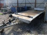 Lot 1559 - BRIAN JAMES 18FTX7FT TRIPLE AXLE TILT BED VEHICLE TRAILER