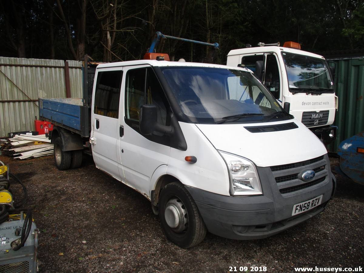 Lot 1503 - 2008 FORD TRANSIT DBL CAB TIPPER FN58RZN