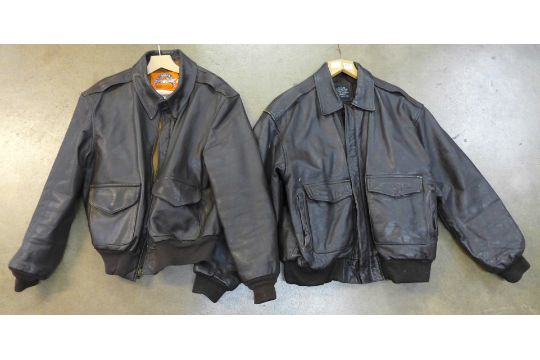 Two Leather Flying Jackets Flight Tech Inc And Cooper Type A2