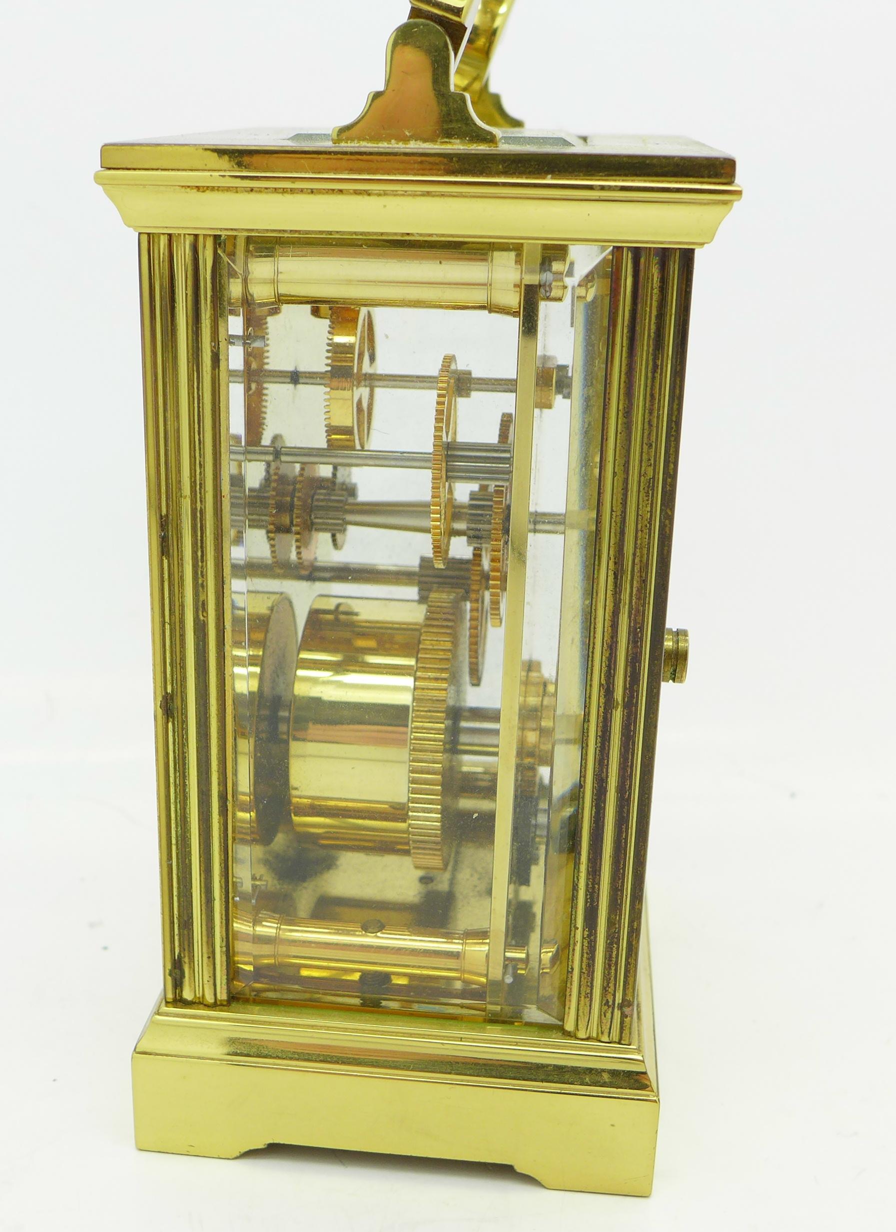 Lot 640A - A carriage clock,