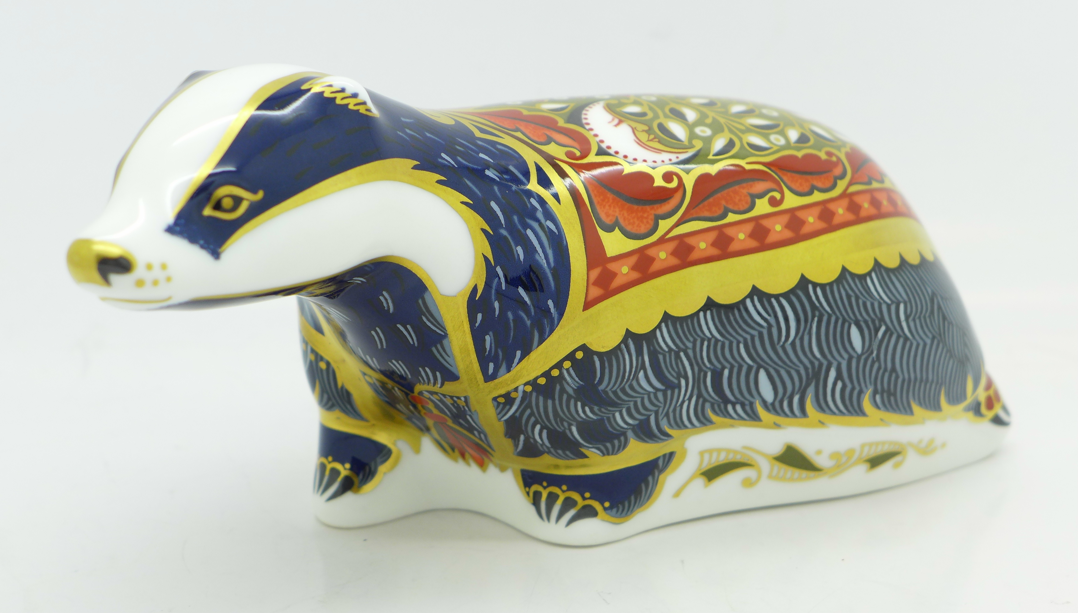 Lot 608 - A Royal Crown Derby paperweight, Moonlight Badger,