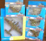Lot 650 - Five Corgi model aircraft, including Avro Lancaster,