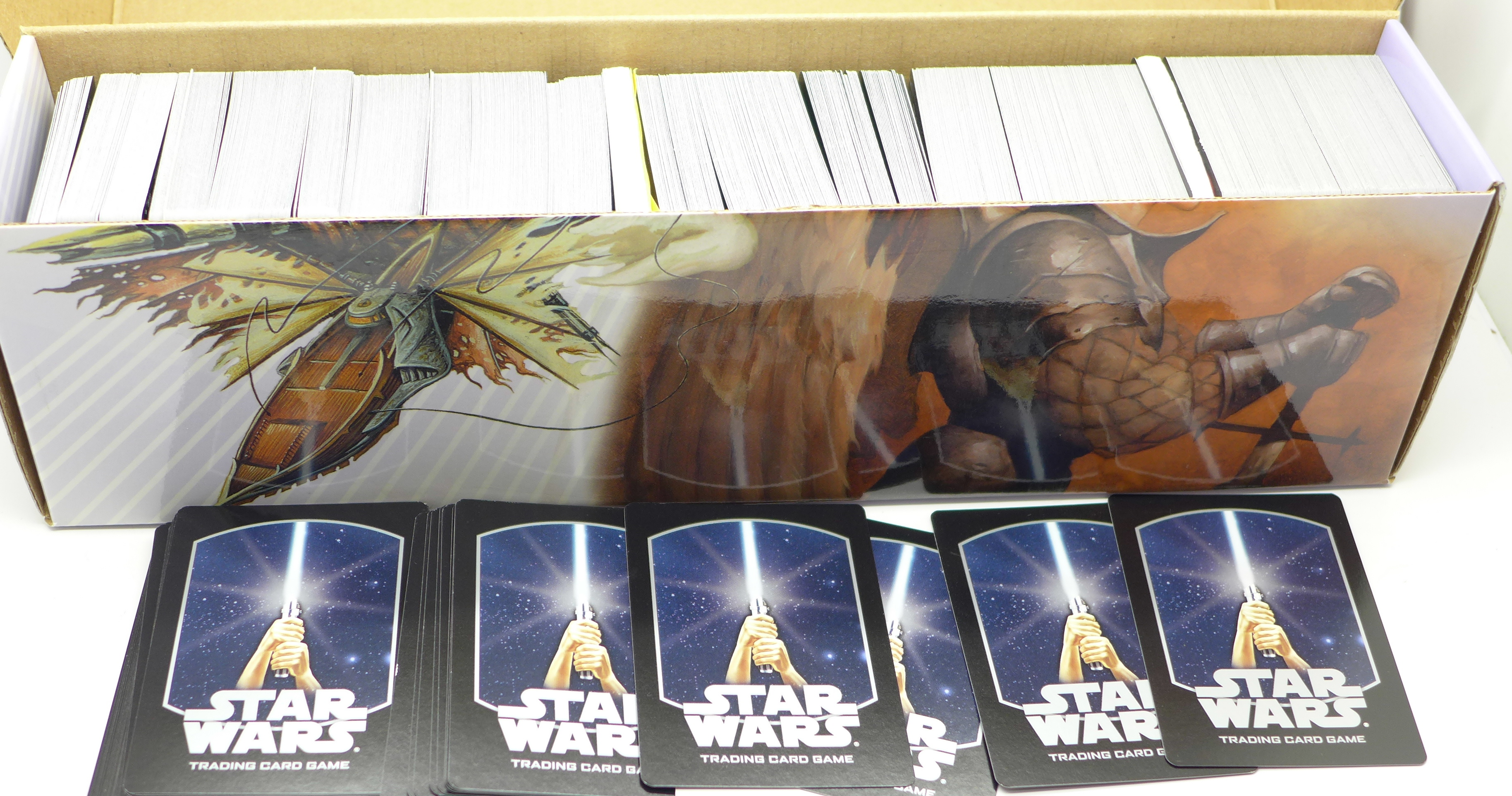 Lot 649 - A large collection of Star Wars trading card game cards