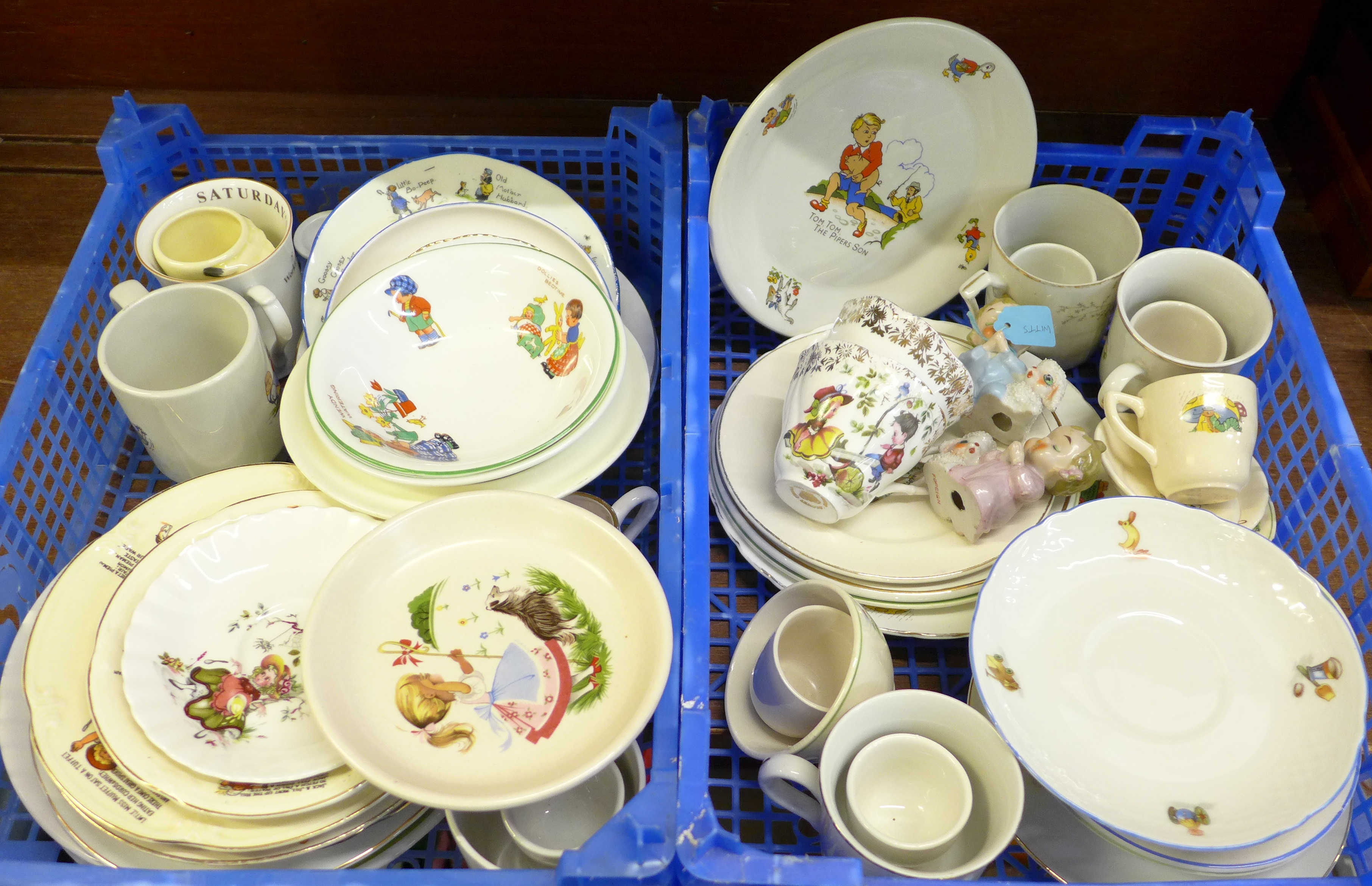 Lot 642 - Two boxes of nursery china