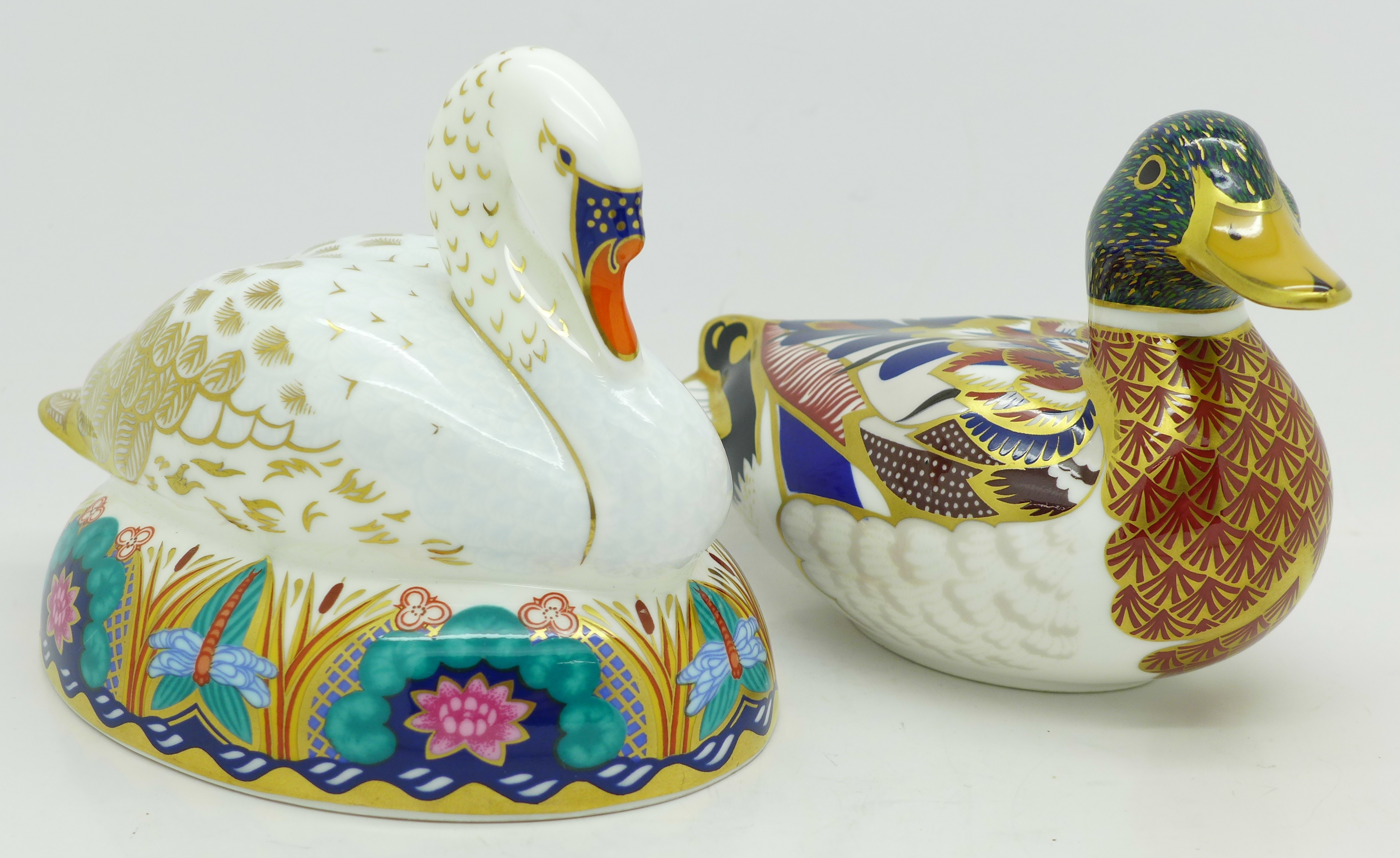 Lot 611 - Two Royal Crown Derby paperweights
