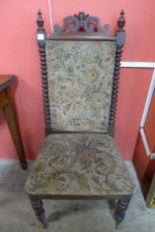 Lot 32 - A Victorian mahogany and upholstered side chair