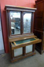 Lot 30 - A Regency mahogany and satin birch side cabinet