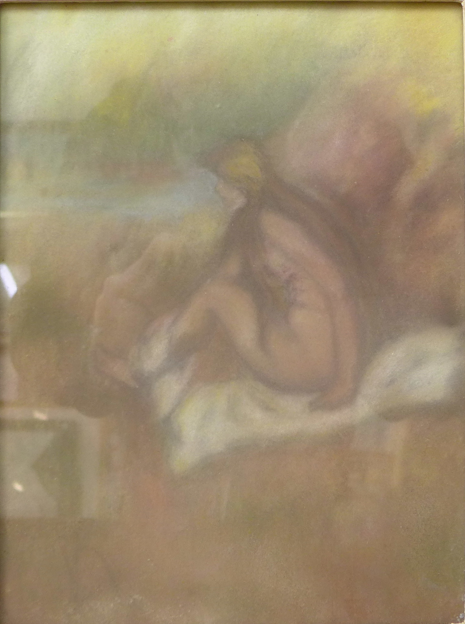 Lot 8 - A nude female study, pastel,