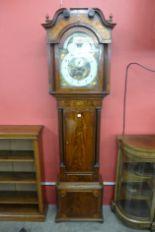 Lot 35 - A George III inlaid mahogany 8-day longcase clock,