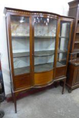Lot 26 - An Edward VII inlaid mahogany display cabinet