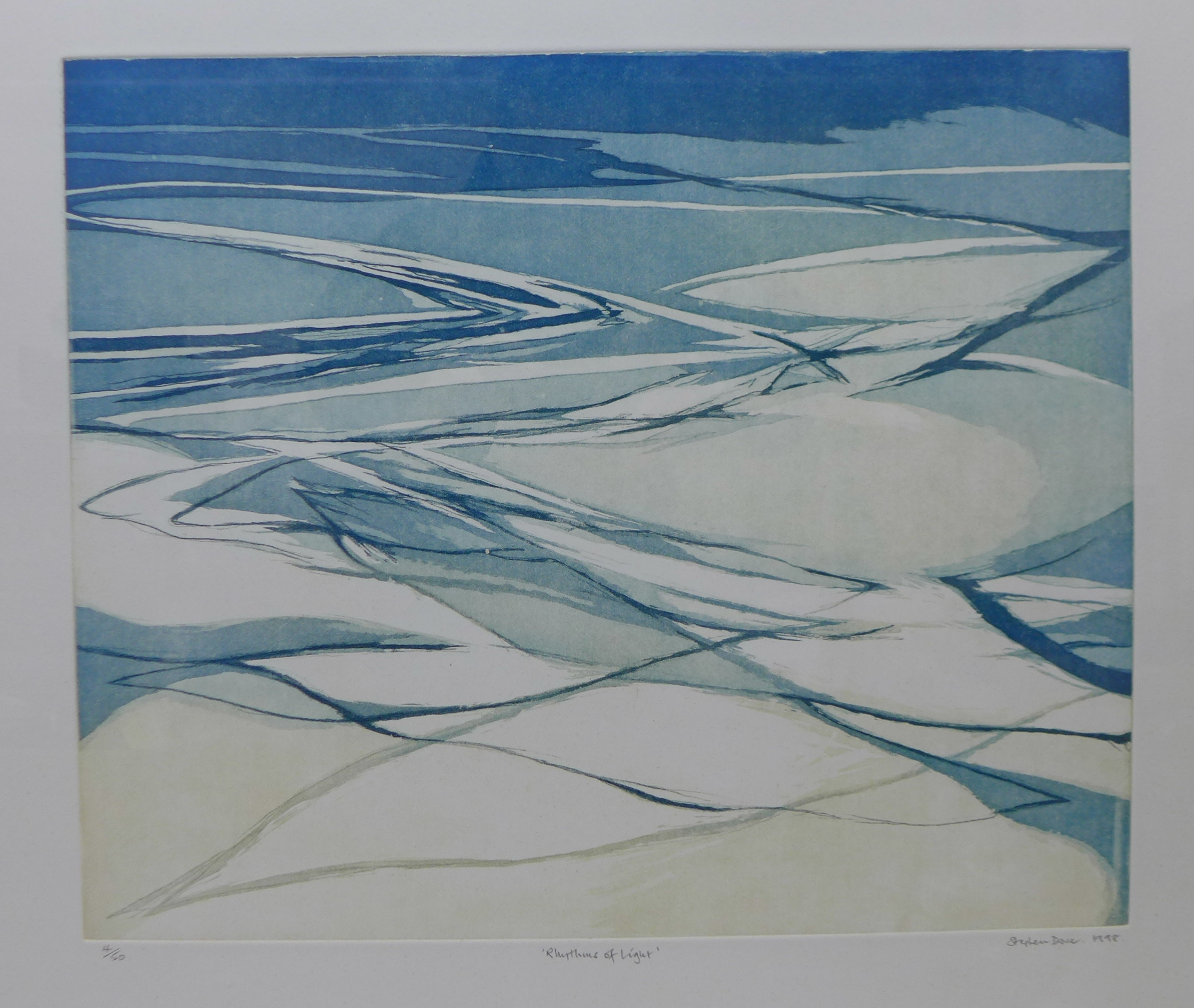 Lot 22 - A signed Stephen Dove limited edition etching, Rhythms of Light, numbered 4/50, 48 x 55cms,