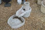 Lot 41 - A pre-cast garden water feature in three parts,