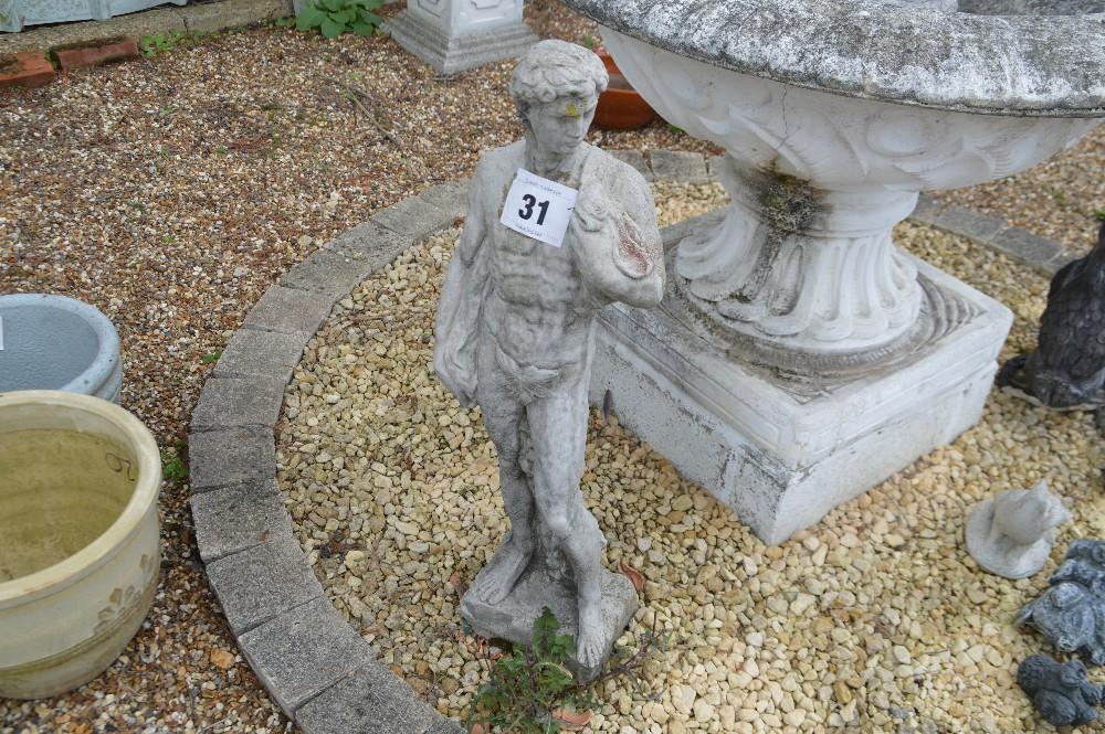Lot 31 - A pre-cast male figure, approx. 84cm