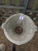 Lot 5 - A pre-cast planter on plinth, total height