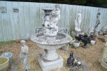 Lot 32 - A pre-cast garden water feature, total height incl