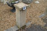 Lot 25 - 2x sandstone pedestals, 58cm each
