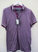 Lot 40 - Ted Baker polo shirt - purple - medium RRP £69
