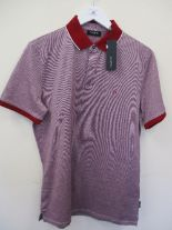 Lot 28 - Calvin Klein polo shirt - burgundy - medium RRP £80