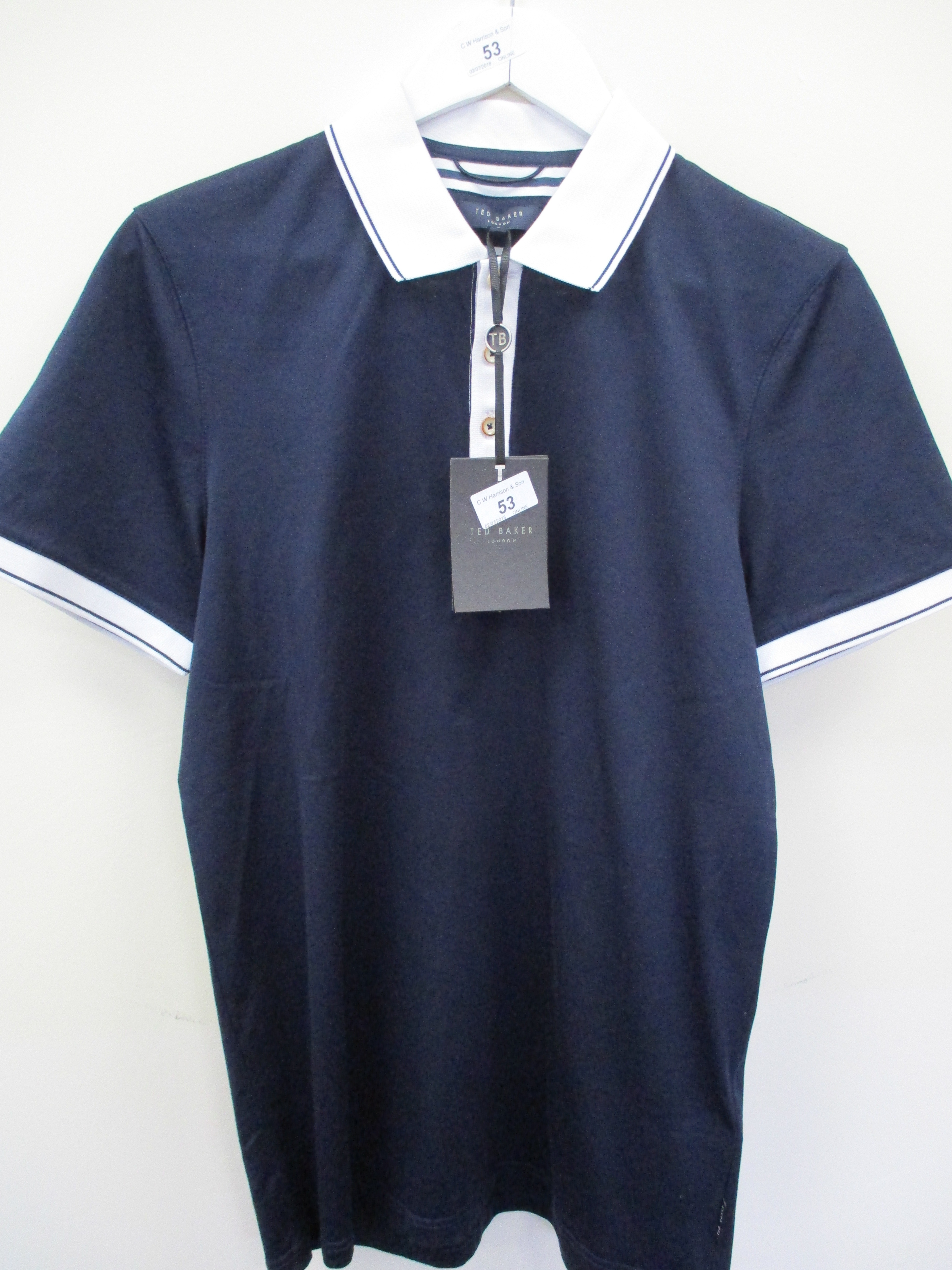 Lot 53 - Ted Baker polo shirt - navy - small RRP £65