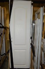Lot 37 - *Wood Crate Containing Twenty Paneled Door with Su