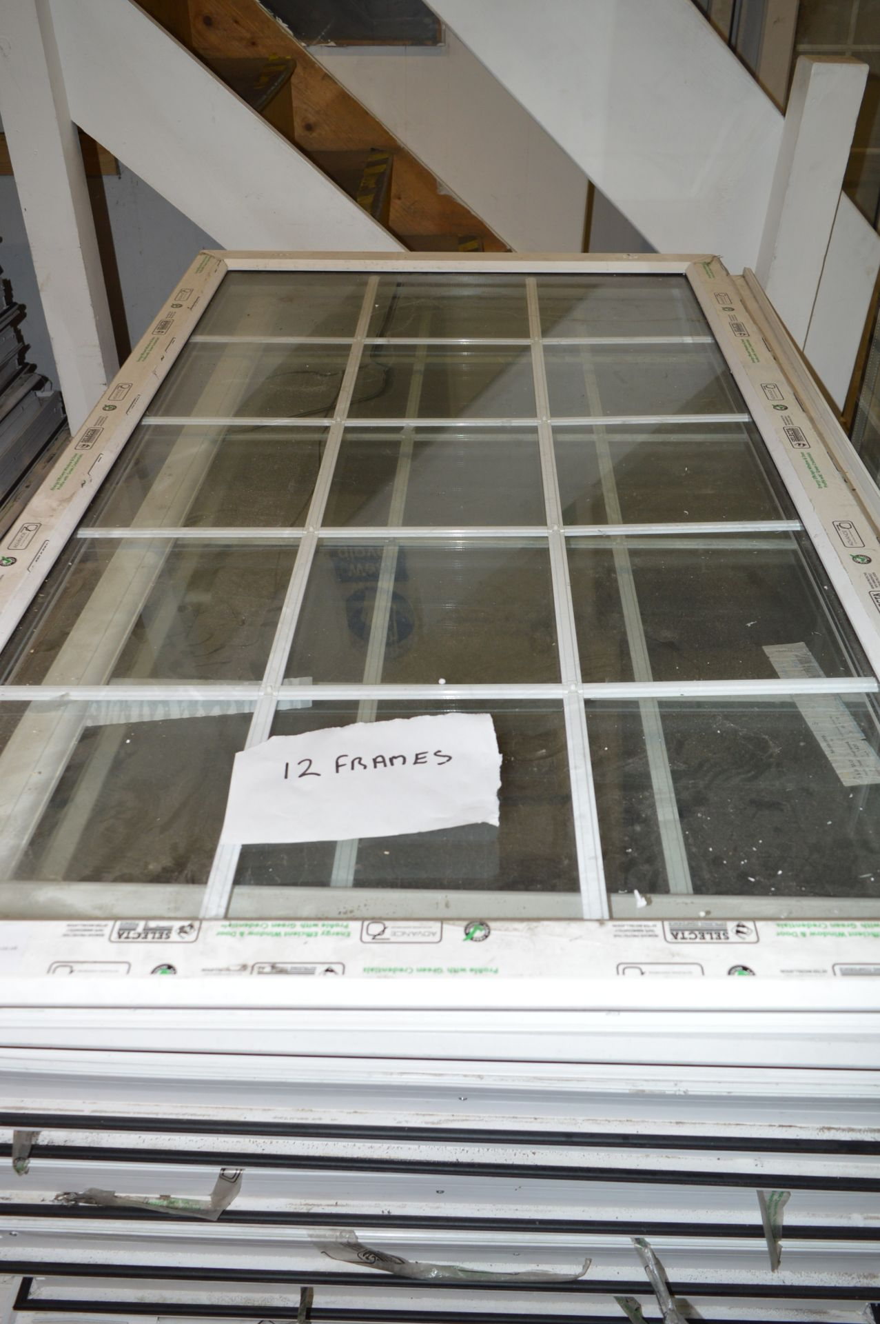 *Twelve Glazed UPVC Window Frames 1490x880