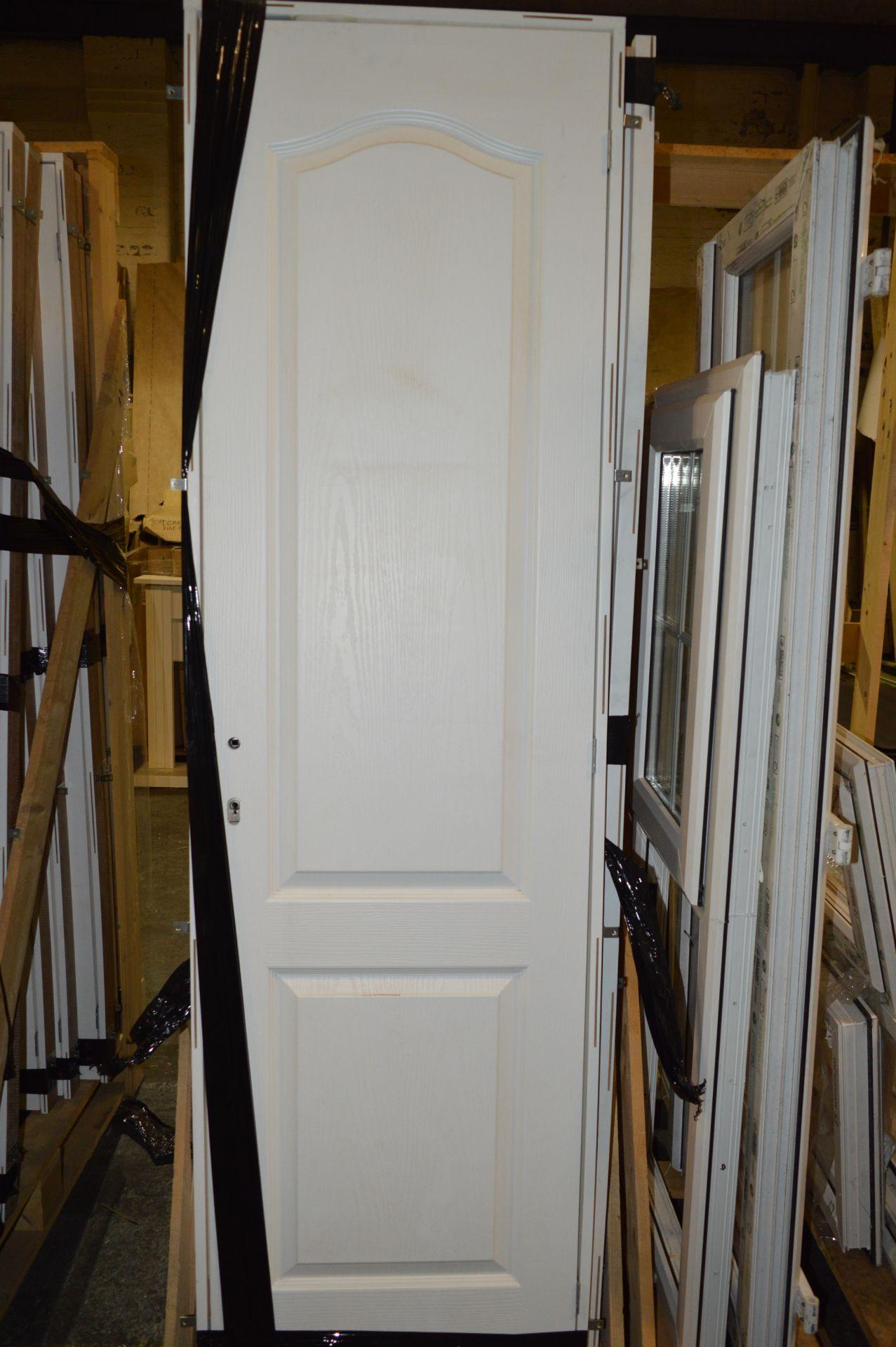 *Wood Crate Containing Twenty Paneled Door with Su