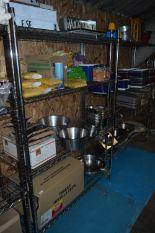 Lot 20 - Freestanding Four Teir Chrome Pot Rack 120x50x180c