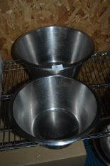 Lot 50 - *Two Large and One Medium Stainless Steel Bowls