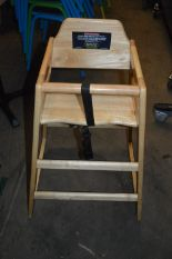 Lot 7 - *Beech High Seat Chair with Safety Straps
