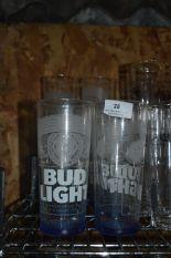 Lot 28 - *Ten Bud Light Branded Pint Glasses