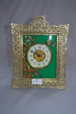 Lot 37 - Decorative Brass Framed Mantel Clock