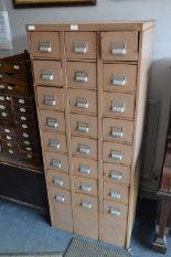 Lot 12 - Metal Twenty Four Drawer Index Cabinet