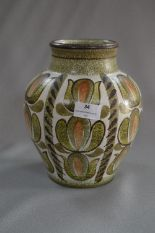 Lot 34 - Denby Glyn College Painted Vase
