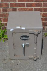 Lot 7 - Thomas Wither Vulcan Metal Safe (With Key)