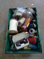 Lot 28 - *Box Containing 60+ Spools of Cotton etc.