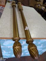 Lot 42 - *Pair of Gilt Effect Curtain Poles with Rings