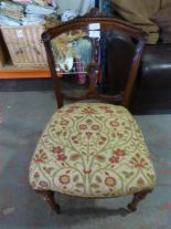 Lot 10 - *Upholstered Antique Bedroom Chair
