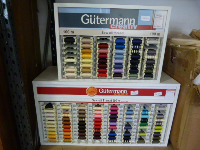 Lot 37 - *Two Guterman Creative Cotton Thread Reels Display/Dispencer Boxes