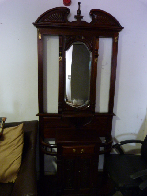 Lot 8 - *Reproduction Mahogany Hall Stand