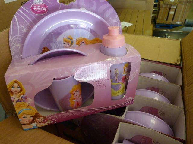 Lot 60 - *Box of 12 Disney Four Piece Princess Sets