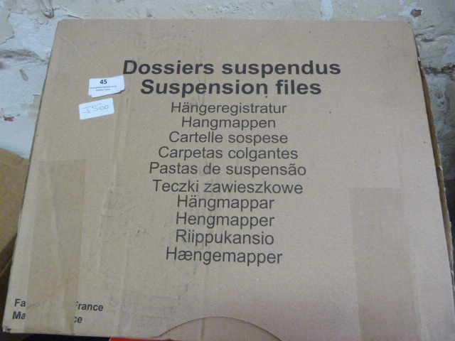 Lot 45 - Box of 25 Red A4 Suspension Files