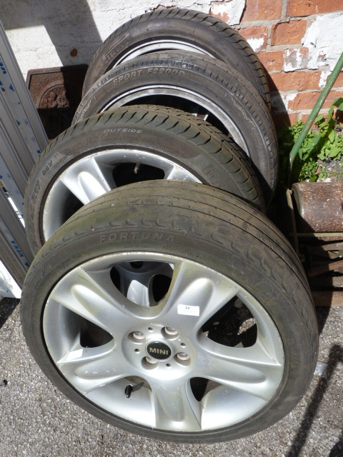 Lot 22 - Four Alloy Wheels for a Mini 205/45R17