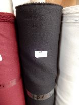 "Lot 47 - 48"" Width Roll of Black Crepe Fabric 15m"
