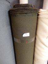 """Lot 36 - 48"""" Width Roll of Khaki Green Fabric 20m"""