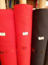 "Lot 19 - 48"" Width Roll of Red Crepe Fabric Approx 17m"