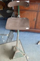 Lot 44 - Tansad Vintage Industrial Machinist's Chair on Swi